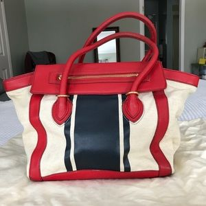 J.Crew Canvas and Leather Tillary Tote Bag